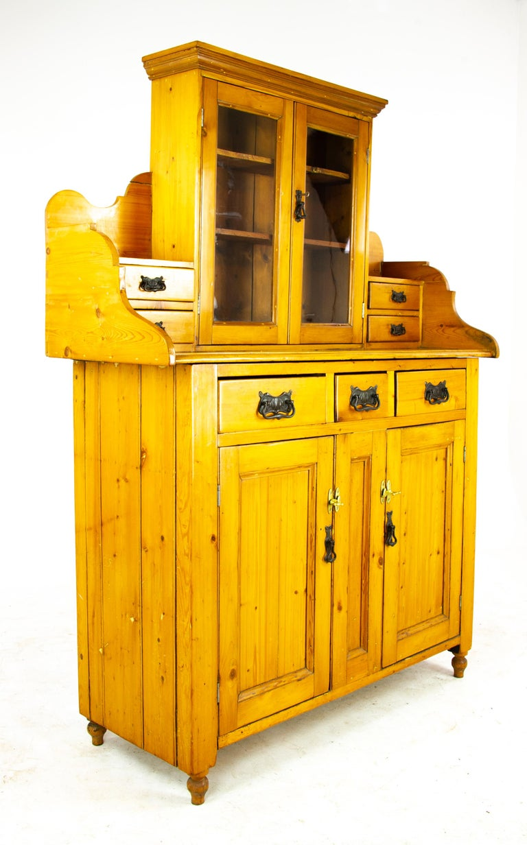 Hand-Crafted Antique Pine Sideboard, Farmhouse Sideboard, Kitchen Dresser, Scotland, 1880 For Sale