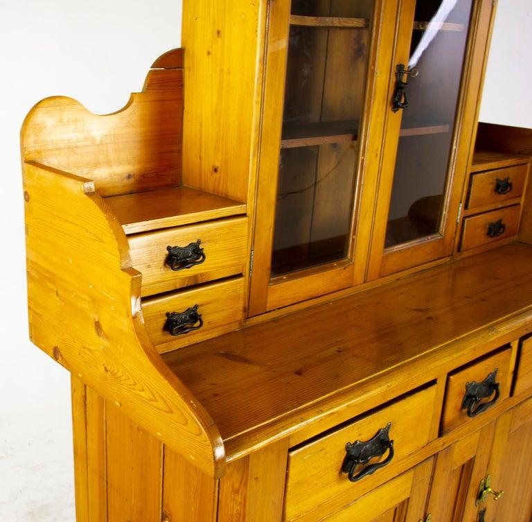 Antique Pine Sideboard, Farmhouse Sideboard, Kitchen Dresser, Scotland, 1880 For Sale 3