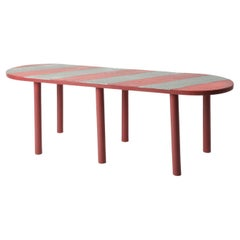 Antique Pink/Red/Gray Side Table by Andrea Epifani