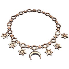 Antique Pique Moon and Stars Necklace