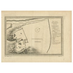 Antique Plan of the Fortress of Tobolsk by Bellin '1768'