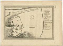 Antique Plan of the Fortress of Tobolsk by Bellin (1768)