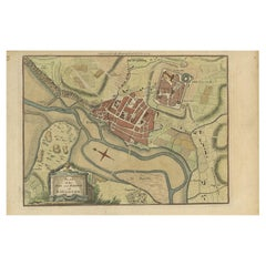 Antique Plan of the Town and Harbour of Boulogne-sur-Mer by Barrow 'c.1760'
