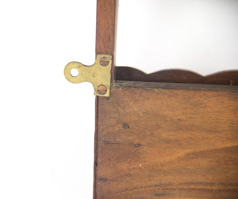 Antique Plate Rack, Solid Walnut, Victorian, Chip Carved, Hanging Shelf REDUCED! For Sale 4