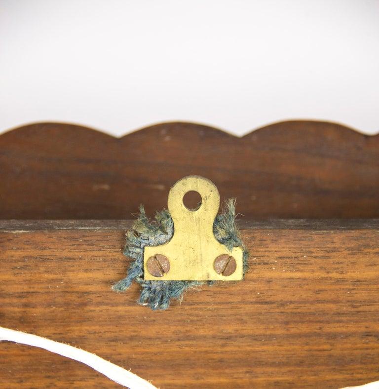 Antique Plate Rack, Solid Walnut, Victorian, Chip Carved, Hanging Shelf REDUCED! For Sale 5