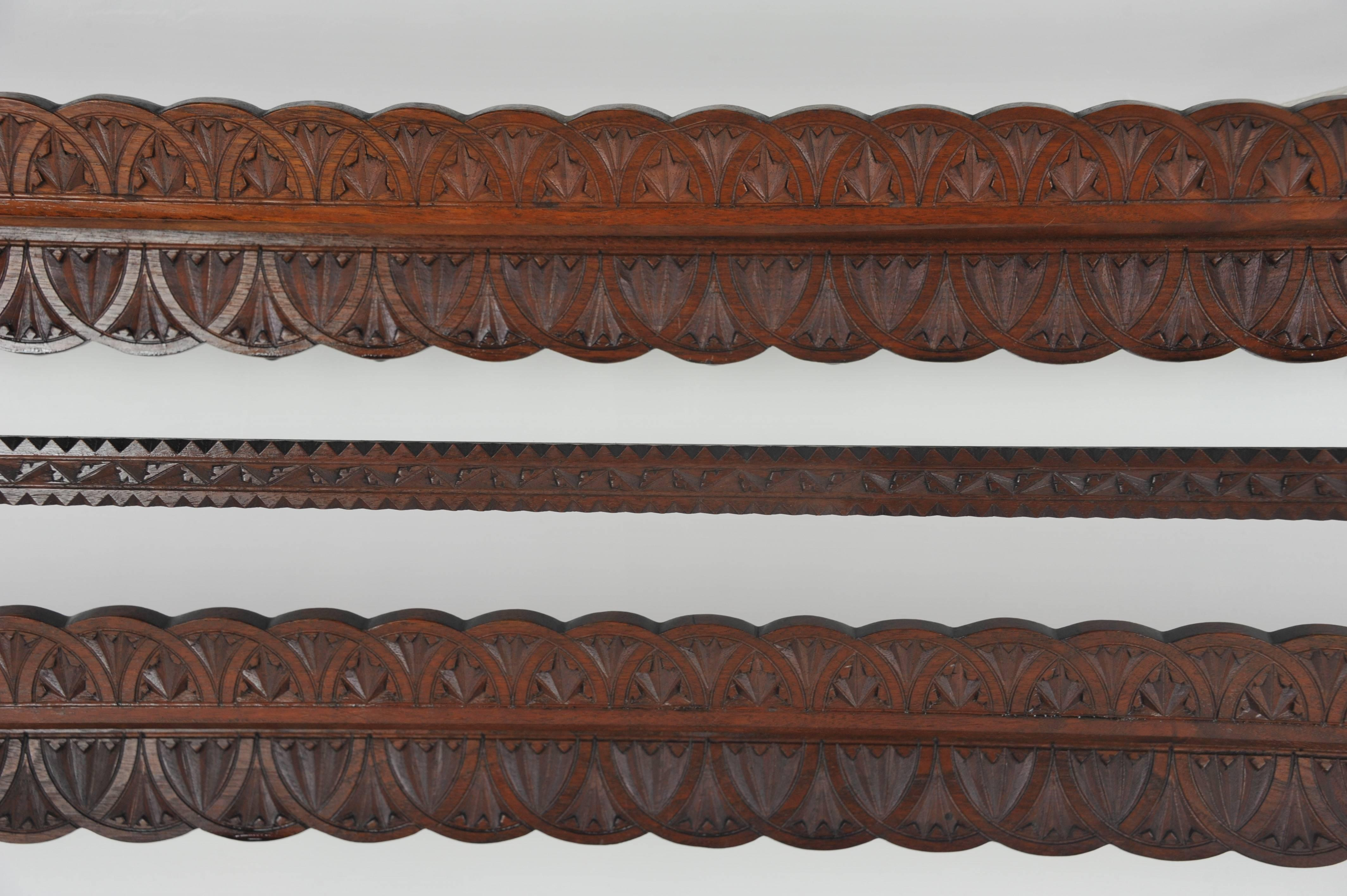 Hand-Crafted Antique Plate Rack Solid Walnut Victorian Chip Carved Hanging & Antique Plate Rack Solid Walnut Victorian Chip Carved Hanging ...