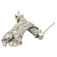 Antique Platinum 4.0ct Diamond Abstract Pendant Necklace