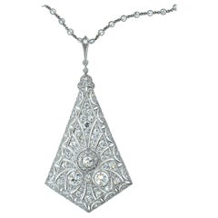 Antique Platinum and Diamond Necklace, circa 1915