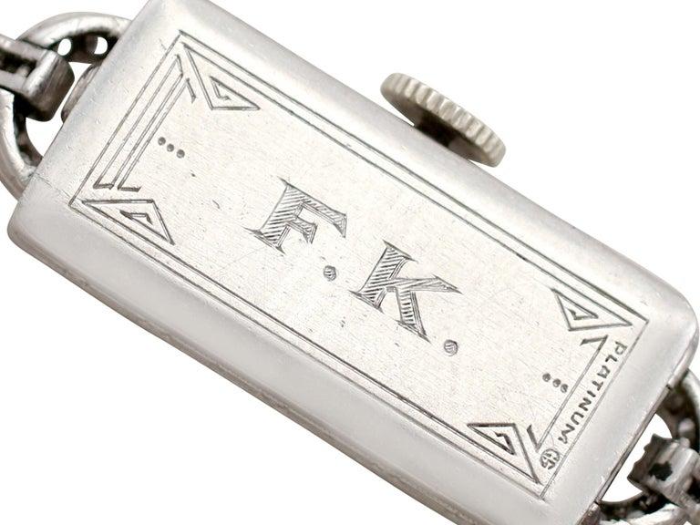 Antique Platinum Diamond Manual Wind Cocktail Wristwatch For Sale 1