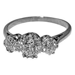 Antique Platinum Diamond Ring, circa 1920