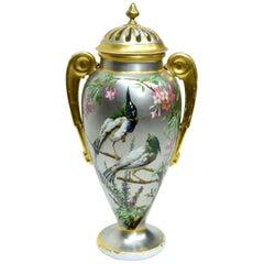 Antique Platinum Ground Paris Porcelain Vase