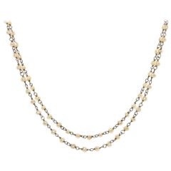 Antique Platinum Pearls Necklace