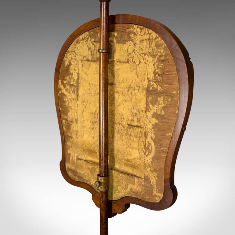 Antique, Pole Screen, English, Victorian, Fire, Needlepoint, Tapestry circa 1850 For Sale 8