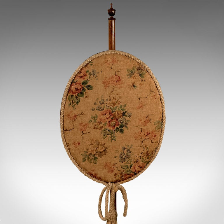 Antique Pole Screen, English, Victorian, Mahogany, Needlepoint, Tapestry For Sale 5