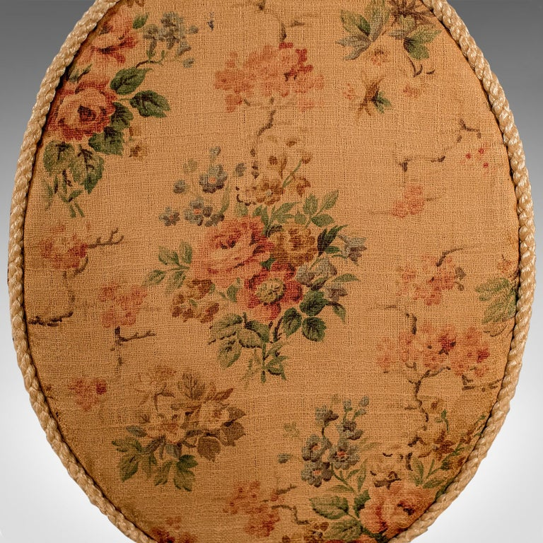 Antique Pole Screen, English, Victorian, Mahogany, Needlepoint, Tapestry For Sale 4