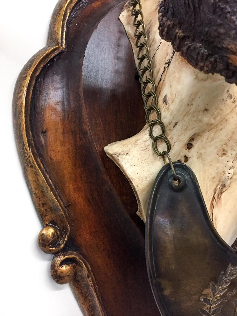 Antique Polish Fallow Trophy with Napoleonic Gorget & Roe Trophy Grouping 8