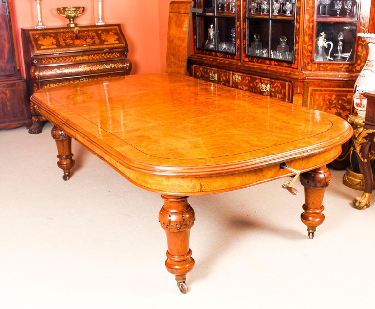 Antique Pollard Oak Victorian Extending Dining Table 19th Century and 10 Chairs In Good Condition In London, GB
