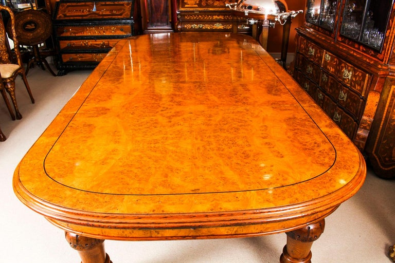 Mid-19th Century Antique Pollard Oak Victorian Extending Dining Table 19th Century and 10 Chairs For Sale