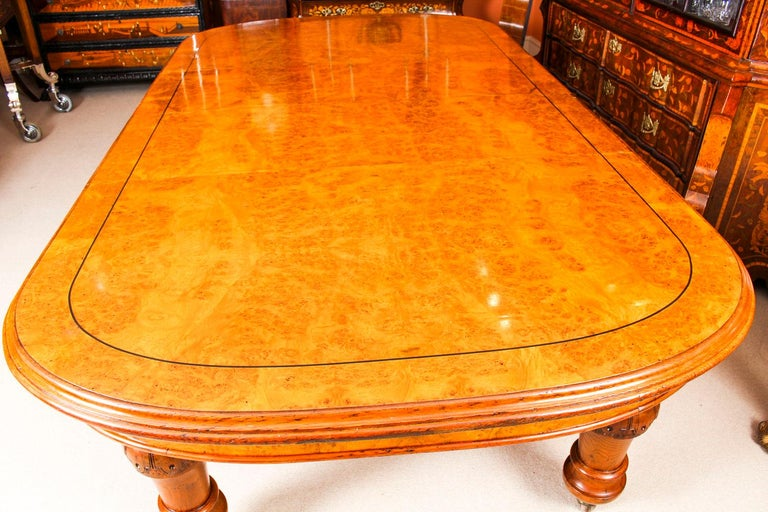 Antique Pollard Oak Victorian Extending Dining Table 19th Century and 10 Chairs 2