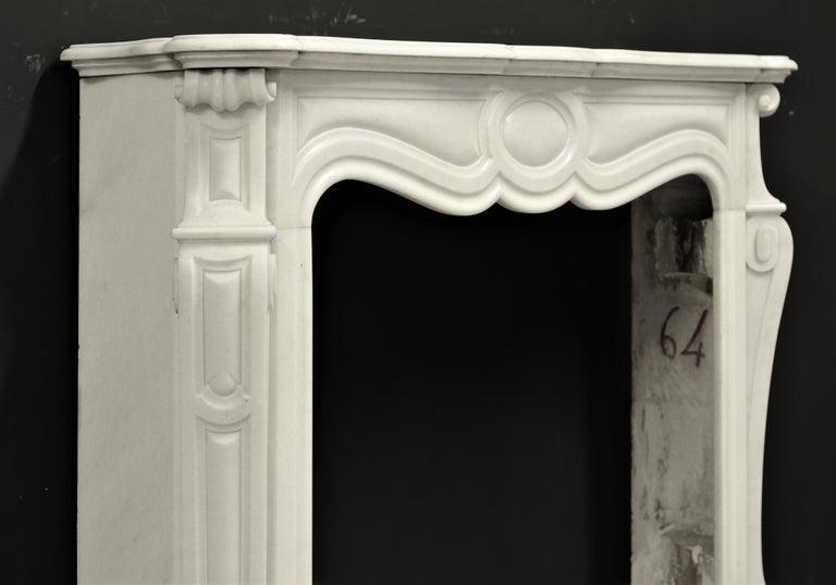Antique Pompadour Style Fireplace Mantel For Sale 1