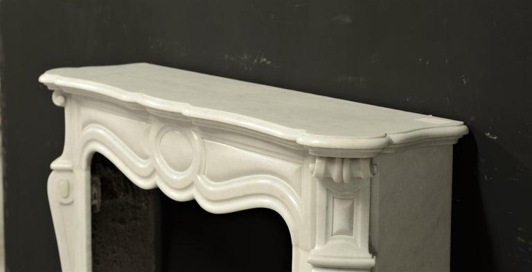 Antique Pompadour Style Fireplace Mantel For Sale 2