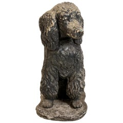 Antique Poodle Dog Garden Ornament
