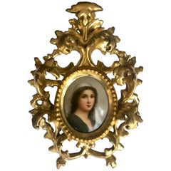 Antique Porcelain Portrait Miniature Plaque KPM Style