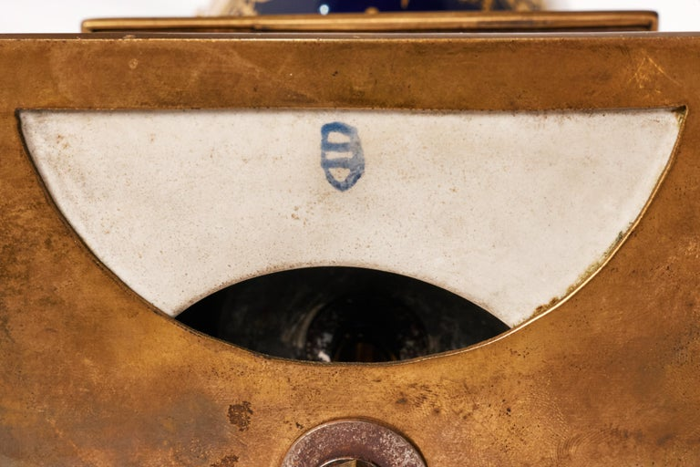 Antique Porcelain Royal Vienna Table Lamp Artist Signed For Sale 5