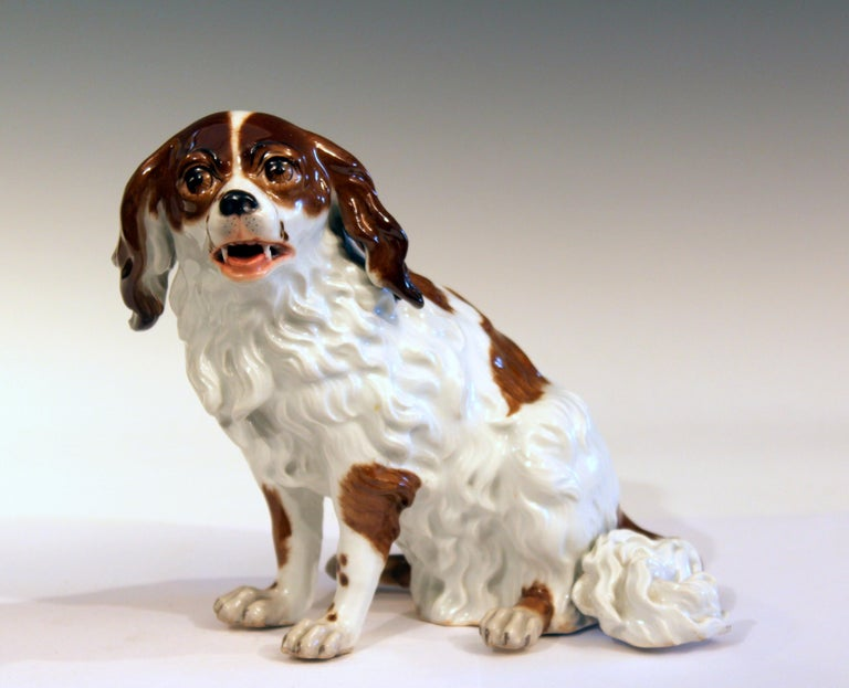 Antique Porcelain Spaniel Dog Samson Meissen Dresden Paris German French Figure For Sale 5
