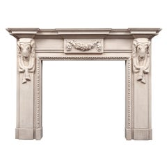Antique Portland Stone Fireplace in the Georgian Palladian Style