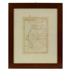 Antique Portolano of Cipre e Limasol by Antoine Roux, France, 1844