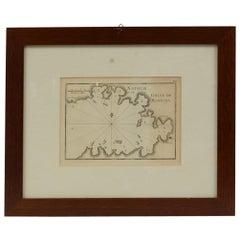 Antique Portolano of Natolie Golfe De Mandaya by Antoine Roux, France, 1844