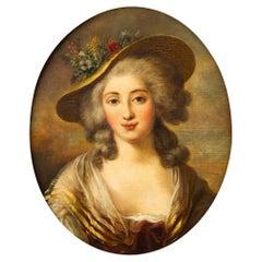 Antique Portrait of a Famous Maiden
