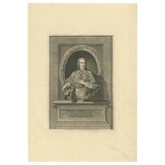 Antique Portrait of Cardinal Troiano Acquaviva d'Aragona by Von Prenner '1748'
