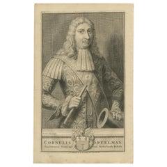 Antique Portrait of Cornelis Speelman by Valentijn, 1726