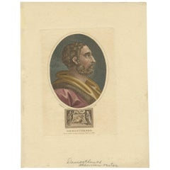 Antique Portrait of Demosthenes by Wilkes, '1803'