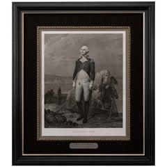 Antique Portrait of George Washington by Jean Laugier, 1924 Engraving Re-Strike