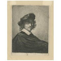 Antique Portrait of Gerrit Dou 'circa 1850'