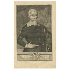 Antique Portrait of Hendrik Brouwer by Valentijn, 1726
