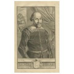 Antique Portrait of Jacques Specx by Valentijn '1726'