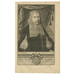 Antique Portrait of Joan Maatsuycker by Valentijn, '1726'