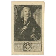 Antique Portrait of Joan van Hoorn by Valentijn '1726'