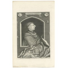 Antique Portrait of John Duke of Bedford by Vertue, circa 1750