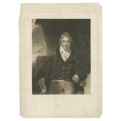 Antique Portrait of Sir John McMahon by Turner '1815'