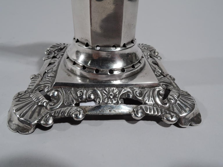 Antique Portuguese Neoclassical Silver Neptune Toothpick Holder For Sale 2