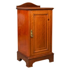 Antique Pot Cupboard, English, Edwardian, Walnut, Bedside Cabinet, circa 1910