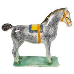 Antique Pottery Horse Made in England at St. Anthony's Pottery, circa 1800-1810