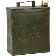 Antique Pratts Green Motoring Petrol Can