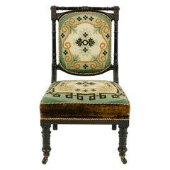 Antique Prayer Chair, Ebonized Chair, Aesthetic Movement, Prie Dieu, 1880, B1562