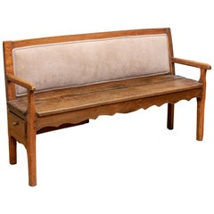 Antique Rustic Bench with Side Drawer